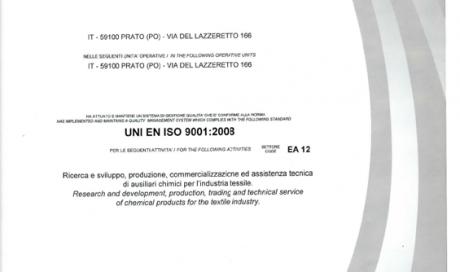 UNI EN ISO9001:2008